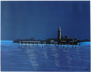 Venise Crépuscule. Peinture acrylique par Faccio